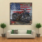 Wall Arts: Motorcycle Metal Wall Art American 3 D Decor For Harley Iron Gift LRG