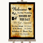 Wedding Sign Poster Print Western Welcome Order Of The Day