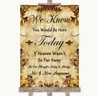 Wedding Sign Poster Print Autumn Vintage Loved Ones In Heaven
