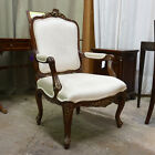 Beautiful Mahogany solid wood Hand Carved French Arm Chair with Gold Leaf