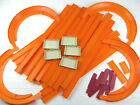 LOT OF 43 VINTAGE 1960S MATTEL HOT WHEELS TRACK SECTIONS HOT TURNS CONNECTORS