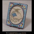 Antique Micro Mosaic Easel Back Picture Frame MAde in Italy