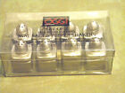 NIB SET OF 8 OGGI 18 8 STAINLESS STEEL MINI SALT  PEPPER SHAKERS VERY NICE