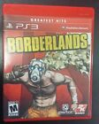 Borderlands Greatest Hits Playsation 3 PS3 Game with Manual Free Shipping