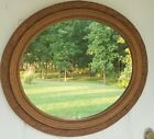 Vintage Oval Gold Gilt Floral Decorated Mirror Grote Mfg Co Madison IN 29 x 25.5