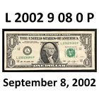 FANCY $1 Bill BIRTHDAY 9-8-2002 Note Serial Number L2029080P ( Serena Williams )