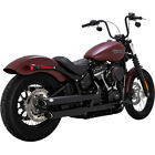 Vance and Hines 3 Twin Slash Slip On Mufflers Harley FLFB FXBB FXLR FLSL Black