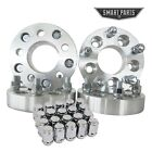 4 QTY 125 5x45 to 5x55 Wheel Spacers Adapters 1 2 20 studs + 20 pc lug nuts