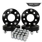4 PC 15 Black Wheel Spacers Adapters 5x5 Hubcentric Studs 1 2x20 + 20 Lug nuts