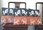 Pr of Antique Indonesian IKAT PILLOWS - Hand Woven -19th C - Horses and Roosters