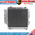 2 ROW Aluminum Radiator For 1987 2006 89 93 99 Jeep Wrangler YJ TJ 24L 42L