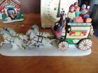 Christmas ceramic lemax memory makers wagon with horse and people no box