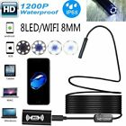 Wifi 8led Endoscope Borescope Inspection Hd 1200p Camera Ip68 For Iphone Android