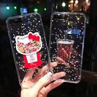 Cute Bling Hello Kitty Glitter Clear Rubber Soft Case iPhone X XS Max 7 8 6 Plus