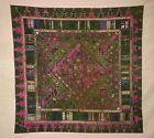 LARGE ANTIQUE 19TH C SWAT VALLEY HANDMADE EMBROIDERY TEXTILE - PAKISTAN