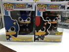 2 - Funko Pop Sonic with Emerald 284 Shadow With Chao # 288 Hot Topic Exclusive