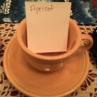 Retired Homer Laughlin Fiesta Ware Post 86 Apricot Cup and Saucer Set
