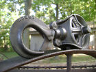 Antique Vintage Cast Iron Ney Mfg. Hay Trolley Drop Pulley Old Farm Barn Tool