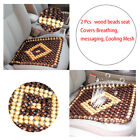 2x Therapy Message Wood Beads Car Seat Cover Breathing Summer Chair Mat Covers