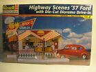 Revell Highway Scenes 1937 Ford 1/24 scale F/S kit skill 2  with Die-Cut Diorama