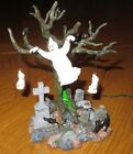 LEMAX 2003 SPOOKY TOWN Light-Up GRAVEYARD GHOST TREE Halloween Village