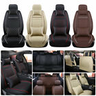 Car Seat Cover 5-Seat SUV Front Rear Set W/Pillows PU Leather Cushions Covers US
