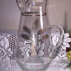 Vintage Gold Wheat Pattern Large hand Blown Pitcher