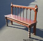 Vintage Colonial Spanish Style Carved Wood Spindle BENCH