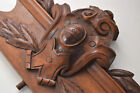 ⭐ antique French  carved wood ornate pediment ,deco furniture
