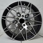 4 Wheels 18 inch Black Machined Rims fits ET33 INFINITI FX50