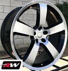 20 RW Wheels for Dodge Challenger 20x9 Charger SRT 06 Style Machined Black Rims