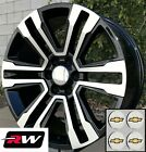 22 x9 inch RW 2017 2018 Denali Wheels for Chevy Truck Machined Black Rims Set
