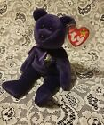 PRINCESS DIANA TY Beanie Baby - Purple Teddy Bear (1997 -RETIRED) MWMT