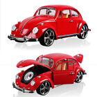 118 Vintage VW Beetle Superior 1967 Car Model Diecast Gift Toy Vehicle Red Kids