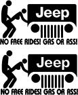 Jeep No Free Rides Decal Kit Many Colors To Chose From