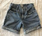 GUESS JEANS 1 High Waisted Button Fly Roll Up Mom Jean Denim Shorts Vintage 90s
