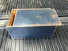 Great Early Slide Lid Candle Box Best Blue Paint