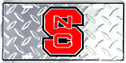 North Carolina State Wolfpack Diamond License Plate Sign Made in USA
