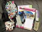 136 Piece Lot Of Lightly Used Alcohol Base Markers Marker Paper Micron Pens +