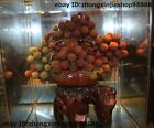 Natural Agalmatolite Shoushan Stone waxberry red bayberry Fruit basket Statue