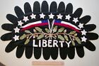 Primitive Patriotic HAND MADE PENNY MINI RUG / Throw / Hanging ~ One Of A Kind!