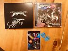 DragonForce Signed Cd Dvd, Artist Backstage Pass, Guitar Picks From Sam T.