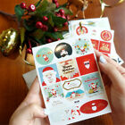 24PCS Christmas Gold Print Gift Paper Stickers DIY Tag Labels Scrapbook Gifts