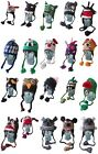 100 % Wool Knit Hat Funny Animal Tardis Monster Kids Adults Funny Gift Winter