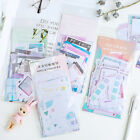 45pcs set Basic Grid Stationery Bullet Journal Diary Paper Calendar Stickers New