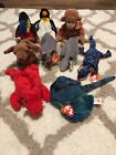 1995 No Star Beanie Baby Lot Of 9!! Mint! Tank, Kiwi, Spike, Grunt, Bongo, Lizzy