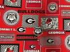 Georgia Bulldogs Cotton Fabrics Bt Yard 3 New Prints Sykel Enterprises