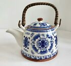 Mia Ko's Best Chinese Blue and White 4 Cup Teapot with Good Luck Chinese Symbol