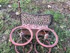Vintage Wicker Baby Doll Carriage Buggy Stroller Home Decor