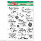 New Penny Black ELOQUENCE Clear Stamps Verse Friend Get Well Love Sympathy Stars